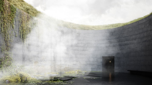 The project of the Volcano Museum in Iceland shortlisted in the competition 21