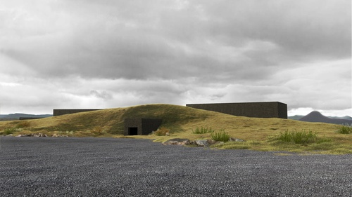 The project of the Volcano Museum in Iceland shortlisted in the competition 11