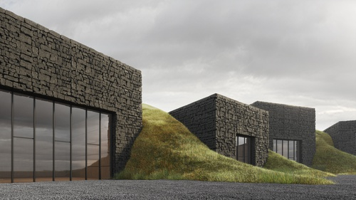 The project of the Volcano Museum in Iceland shortlisted in the competition 01