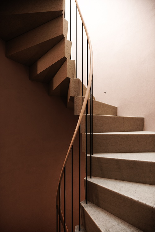 Spiral staircase. Private House in London