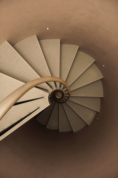 Spiral staircase. Private House in London 11