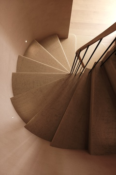 Spiral staircase. Private House in London 01